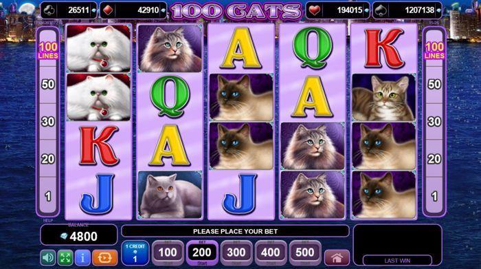 100 кошек egt